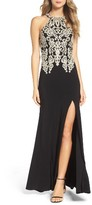 Sequin Hearts Women's Embellished Stretch Gown