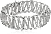 """Amazon Collection Sterling Silver and 2 Cttw Rose Cut Diamond Bracelet, 7.25"""""""