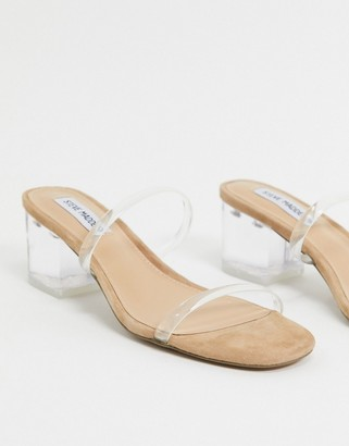 Steve Madden Issy strappy heeled sandals in clear