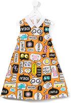 Fendi speech bubble print dress - kids - Cotton - 12 yrs