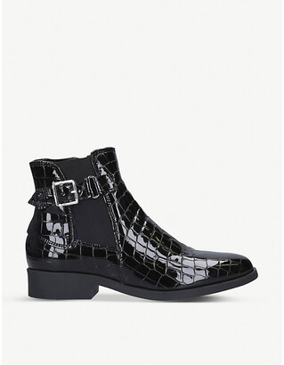 Carvela Comfort Rich crocodile-effect patent leather ankle boots