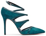 Reiss Odin Strappy Pointed Toe Court Pumps