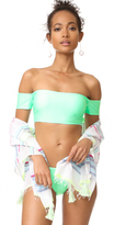 Splendid Sunsational Off Shoulder Bikini Top