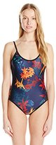 We Are Handsome Women's String Scoop One Piece Swimsuit