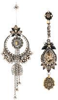 Alexander McQueen jewelled duo earrings