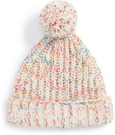 Tucker + Tate Toddler Girl's Rainbow Pompom Knit Hat - Ivory