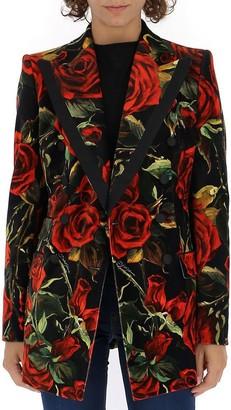 Dolce & Gabbana Rose Print Blazer