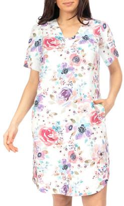 Jump Short Sleeve Poppy Print Dress
