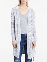 Calvin Klein Heathered Belted Long Cardigan