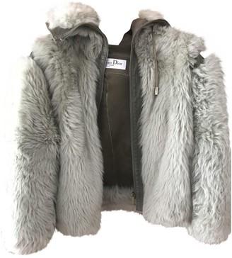 Christian Dior Khaki Fur Jacket for Women Vintage