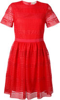 MICHAEL Michael Kors lace detail shift dress - women - Cotton/Polyester - 4