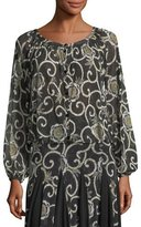 Fuzzi Scroll-Floral Cocoon Cardigan