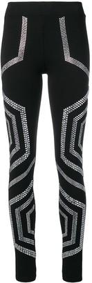 Philipp Plein crystal embellished leggings