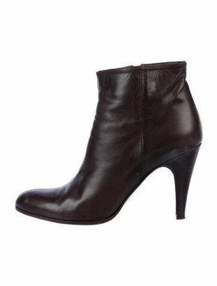 Barneys New York Leather Boots Brown