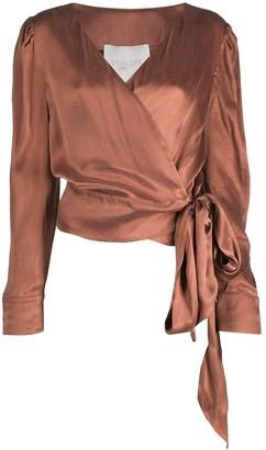 ENVELOPE1976 Wrap Front Blouse
