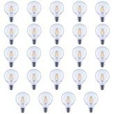 clear Wildon Homeâ® 40 Watt Equivalent G25 LED Dimmable LED Glass Globe Light Bulb 2700K E26/Medium (Standard) Base (Set of 24) Wildon HomeA