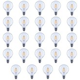 clear Wildon Homeâ® 60 Watt Equivalent G25 LED Dimmable LED Glass Globe Light Bulb 2700K E26/Medium (Standard) Base (Set of 24) Wildon HomeA