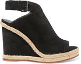 Vince Evangeline jute-trimmed suede wedge sandals