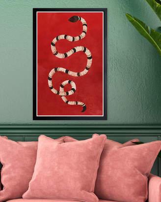 Wynwood Studio Crimson Snake Framed Art Print
