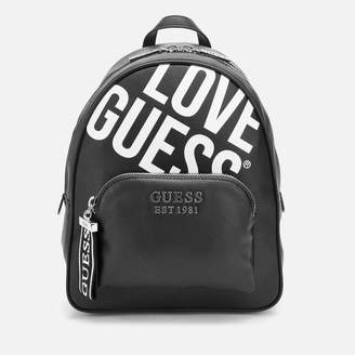 GUESS Women's Haidee Large Logo Backpack - Black