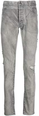 Balmain acid wash skinny jeans
