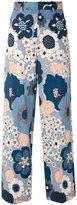 Chloé wide leg floral trousers - women - Cotton - 36