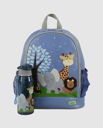 Bobbleart Large Backpack and Drink Bottle Pack Safari