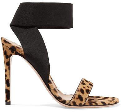Gianvito Rossi 105 Leopard-print Calf Hair Sandals - Leopard print