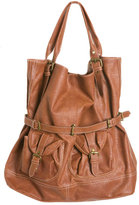 Tan Belted Tote