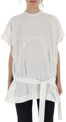 Givenchy Panelled Insert Belted T-Shirt