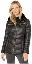 Lauren Ralph Lauren Polyfill Jacket w/ Metal (Black) Women's Clothing