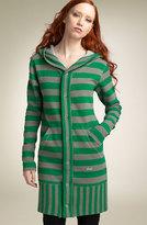 DIESEL® 'Klyn' Stripe Hooded Sweater Coat