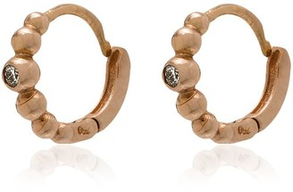 Gigi Clozeau Rose Gold Lucky Diamond Mini Hoop Earrings