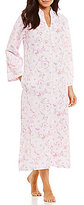 Miss Elaine Tasseled Floral Quilted Zip Robe