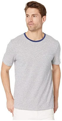 J.Crew Hemp Cotton Jersey Izmir Stripe Short Sleeve Tee (Blue Marl Izmir Stripe) Men's Clothing
