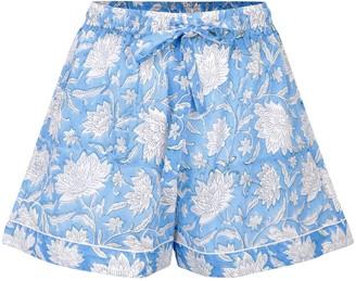 Dilli Grey Blue Champaca Sleep Shorts