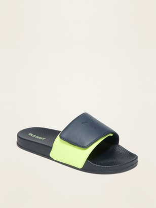 Old Navy Faux-Leather Secure-Close Slide Sandals for Boys