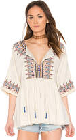 Velvet by Graham & Spencer X Kristy Hume Dahlia Tunic in Cream. - size M (also in S,XS)