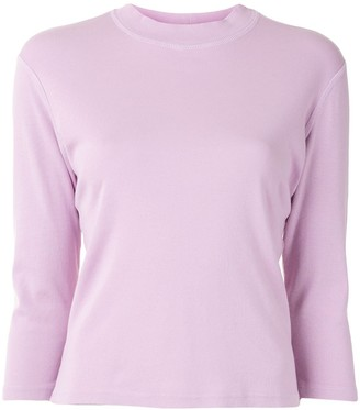 Raquel Allegra crew neck 3/4-sleeve T-shirt