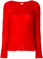 Saint Laurent loose stitch round neck jumper - women - Nylon/Mohair/Wool - XS
