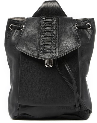 Day & Mood Sage Sling Leather Backpack