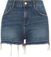 River Island Womens Blue released hem high waisted denim shorts