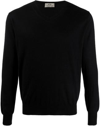 Corneliani cashmere V-neck jumper
