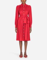 Thumbnail for your product : Dolce & Gabbana Satin jacquard midi shirt dress