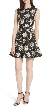 Ted Baker Ornate Paisley Ruffle Hem Dress