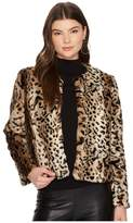 BB Dakota McKinley Leopard Faux Fur Jacket Women's Coat