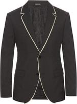 Alexander McQueen Notch-lapel raw-edge jacket