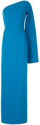 SOLACE London Callie one-sleeve maxi dress