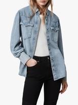 AllSaints Ava Denim Shirt, Light Indigo Blue