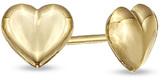 Zales Child's Puffy Heart Stud Earrings in 14K Gold